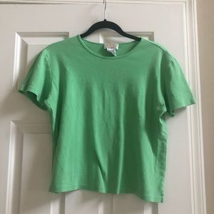 Talbots Petite Lime Green Short Sleeve Top